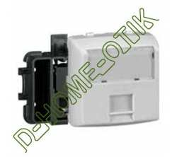 prise rj 45 categorie 5e ftp 9 contacts appareillage saillie composale - blanc ref 86161