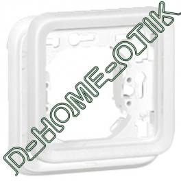 support plaque programme plexo composable blanc artic - 1 poste ref 70792