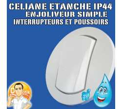 legrand 67801 enjoliveur simple celiane - ip 44 - pour ref. 67001 et 67031 - blanc