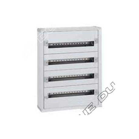 legrand 401804 coffret distribution isolant xl3 160 - tout modulaire - 4 rangees - 96 modules
